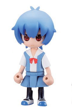 NEW Neon Genesis Evangelion Petit Eva Ayanami Rei Figure in School Uniform