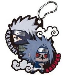 Naruto Sasuke Special Kakashi and Sasuke Rubber Key Chain