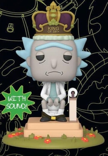 Rick and Morty #694 Funko Pop King Of $#! Figurine