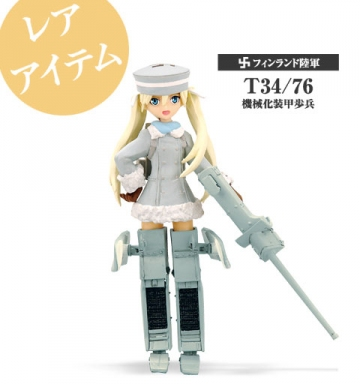 main photo of Mecha-Musume 3 Re-Paint: T 34/76 Ver. 1 (Rare figure)