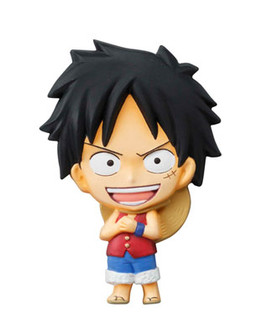 main photo of One Piece Mascot Relief Magnet: Monkey D. Luffy