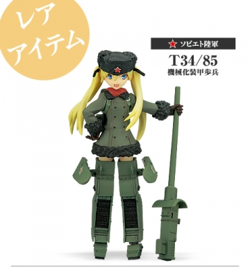 main photo of Konami Figure Collection Mecha Musume Vol.3: Soviet Army T34/85