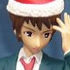 HGIF The Melancholy of Haruhi Suzumiya #4: Kyon with Santa Hat