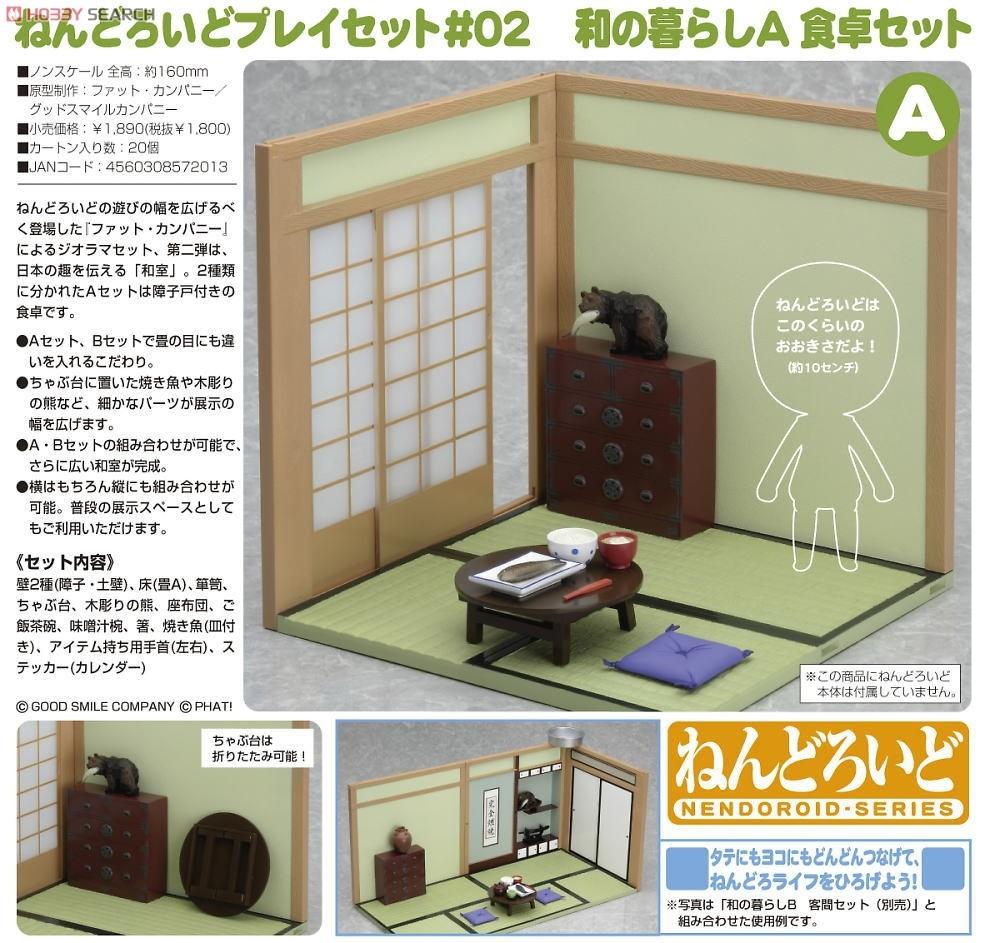 Japanese Dining Set nendoroid playset #02: japanese life set a (dining set) - my anime