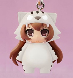 main photo of Chara-Ani Toradora! Toys Works Strap Collection: Aisaka Taiga White Tiger version