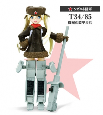 main photo of Konami Figure Collection Mecha Musume Vol.3 Repaint Ver.: Soviet Army T34/85