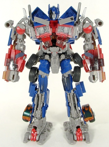 main photo of Optimus Prime Leader Class with Battle Hook