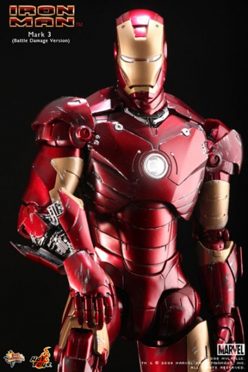 main photo of Movie Masterpiece Iron Man Mk.III Battle Damage Ver.