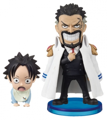 main photo of One Piece World Collectable Figure Vol.0: Monkey D. Garp & Portgas D. Ace