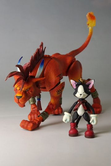 main photo of Play Arts Red XIII and Cait Sith