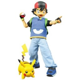 main photo of Real Action Heroes 220 Ash Ketchum with Pikachu