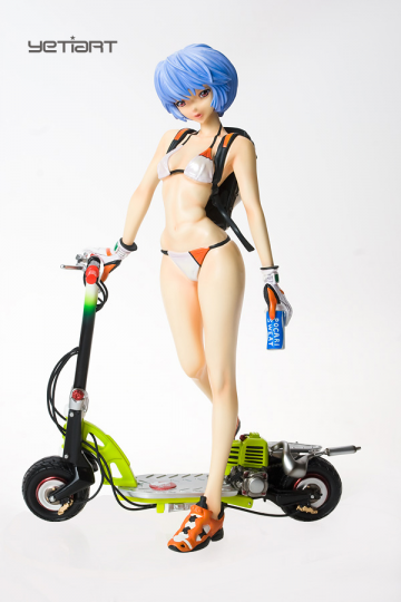 main photo of Rei Ayanami with Electric Scooter
