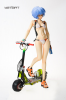 photo of Rei Ayanami with Electric Scooter