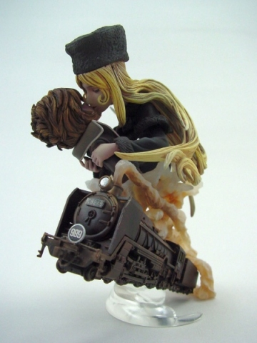 main photo of Neo Super Figure Revolution - Galaxy Express 999: Maetel and Hoshino Tetsuro Sepia Ver.
