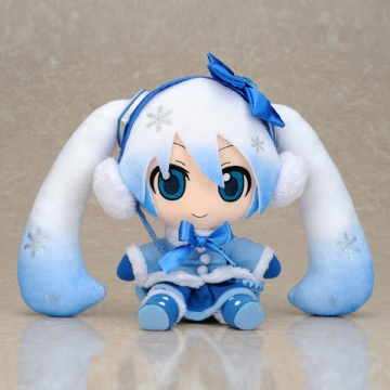 main photo of Plush Strap Series: Snow Miku FuwaFuwa Coat Ver.