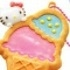 Hello Kitty Sparkly Clear Cookie Mascot: Hello Kitty Ice Cream