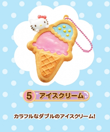 main photo of Hello Kitty Sparkly Clear Cookie Mascot: Hello Kitty Ice Cream