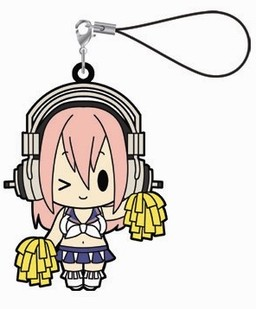 main photo of Super Sonico Rubber Strap Collection: Sonico Cheerleader ver.