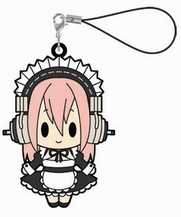 main photo of Super Sonico Rubber Strap Collection: Sonico Maid ver.