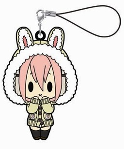 main photo of Super Sonico Rubber Strap Collection: Sonico Bunny Ears Cardigan ver.