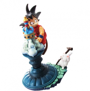 main photo of Neo Capsule Corp Diorama Goku and Senzu Bean Cat Korin