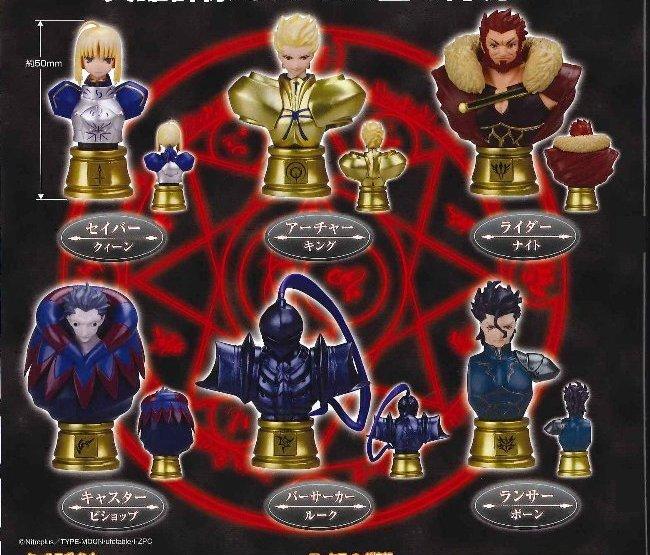 fate  zero chess piece collection  gilgamesh white ver