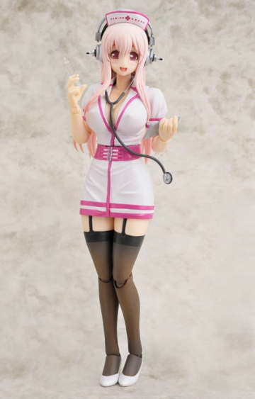 main photo of Gutto-kuru Figure Collection 53 Super Sonico Nurse Ver.