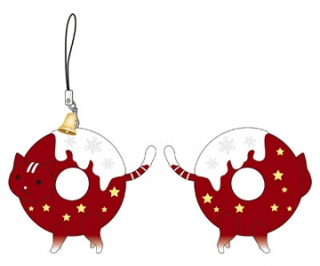 main photo of Okashina Strap: Donyatsu Christmas Donyatsu Red Ver.