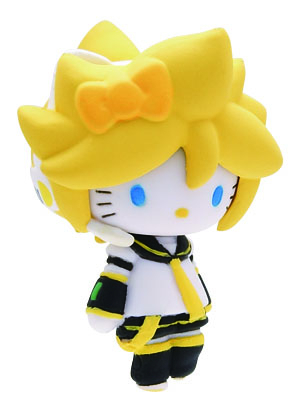 main photo of Mascot Key Chain Hello Kitty & Vocaloid: Hello Kitty Kagamine Len Ver.