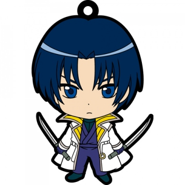 main photo of Rurouni Kenshin Trading Rubber Strap: Shinomori Aoshi