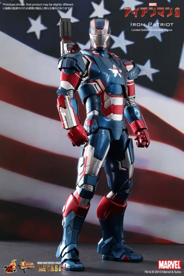 main photo of Movie Masterpiece Diecast Iron Patriot