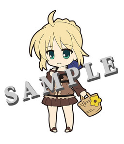 main photo of Pic-Lil! Fate/Saber Trading Strap: Saber Holiday ver.