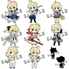 photo of Pic-Lil! Fate/Saber Trading Strap: Saber Lily
