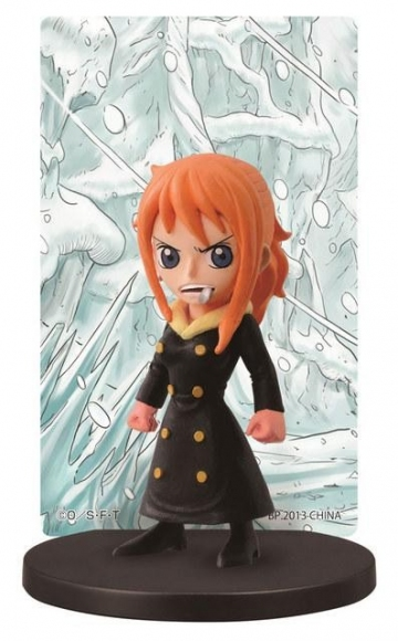 main photo of Ichiban Kuji One Piece ~Punk Hazard Hen~: Sanji in Nami's body Card Stand Figure