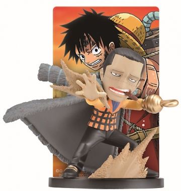 main photo of Ichiban Kuji One Piece Memories: Sir Crocodile and Monkey D. Luffy Card Stand Figure