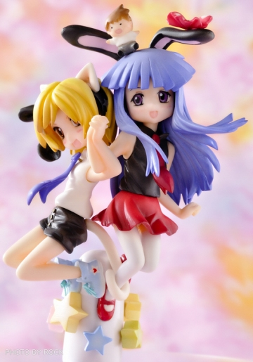 main photo of Furude Rika Bunny version and Houjou Satoko Cat version
