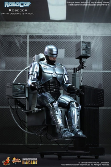 main photo of Movie Masterpiece Diecast Robocop with Docking Station