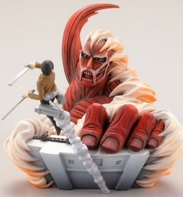 main photo of Capsule Q Characters Shingeki no Kyojin: Colossal Titan and Eren Yaeger