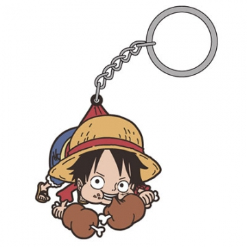 main photo of One Piece Tsumamare Pinched Keychain: Monkey D. Luffy