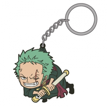 main photo of One Piece Tsumamare Pinched Keychain: Roronoa Zoro