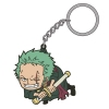 photo of One Piece Tsumamare Pinched Keychain: Roronoa Zoro