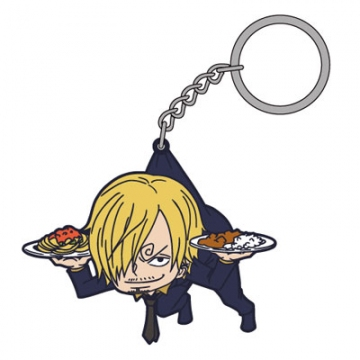 main photo of One Piece Tsumamare Pinched Keychain: Sanji