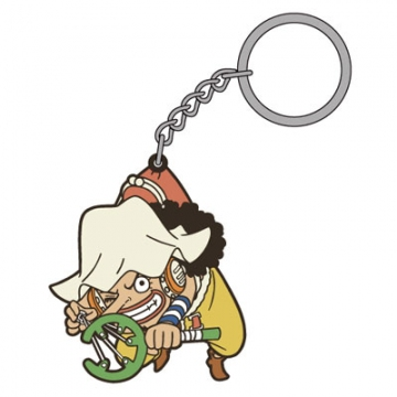 main photo of One Piece Tsumamare Pinched Keychain: Usopp