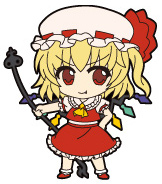 main photo of Nendoroid Plus Trading Rubber Strap Chap.1 Touhou Project: Flandre Scarlet