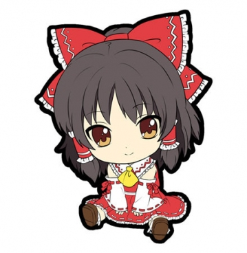 main photo of Petanko Touhou Trading Rubber Strap Vol.1: Hakurei Reimu