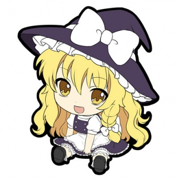 main photo of Petanko Touhou Trading Rubber Strap Vol.1: Kirisame Marisa