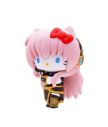 main photo of Mascot Key Chain Hello Kitty & Vocaloid: Hello Kitty Megurine Luka Ver.