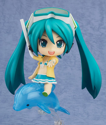 main photo of HappyKuji Hatsune Miku 2013 Summer Ver.: Nendoroid Hatsune Miku Swimsuit Ver. & Family Mart 2013 ver.