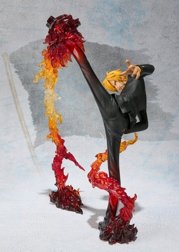 main photo of Figuarts ZERO Sanji Diable Jambe Flambage Shot Battle ver.