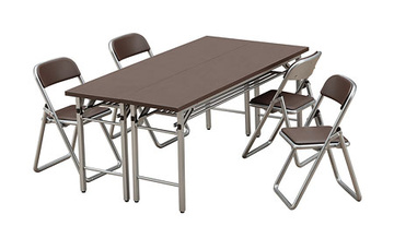 main photo of 1/12 Posable Figure Accessory: Meeting Room Tables & Chairs